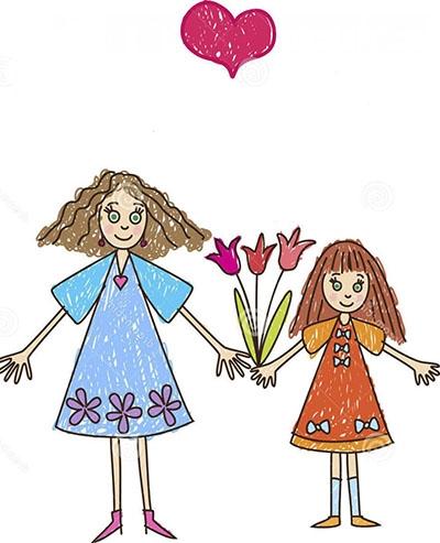 Красивый рисунок маме от дочки   подборка 002