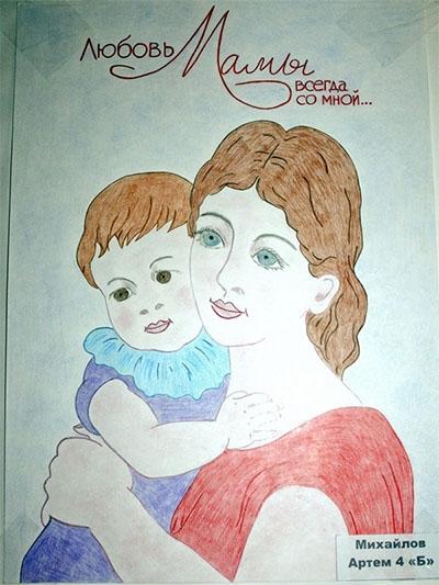 Красивый рисунок маме от дочки   подборка 011