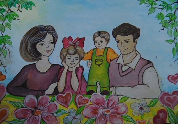 Красивый рисунок маме от дочки   подборка 015