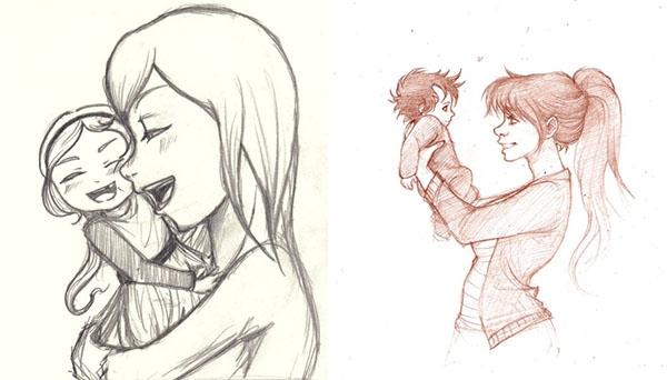 Красивый рисунок маме от дочки   подборка 019