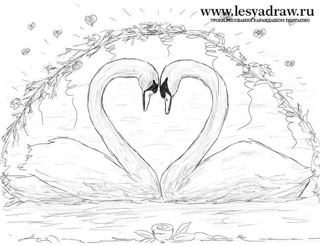 Красивый рисунок на день свадьбы 011