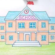 Красивый рисунок школьная жизнь карандашом 028