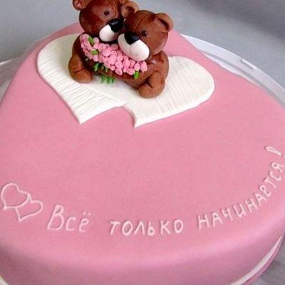 Красивый торт вместе 7 лет   фото 005