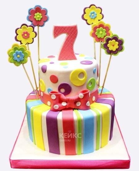 Красивый торт вместе 7 лет   фото 007