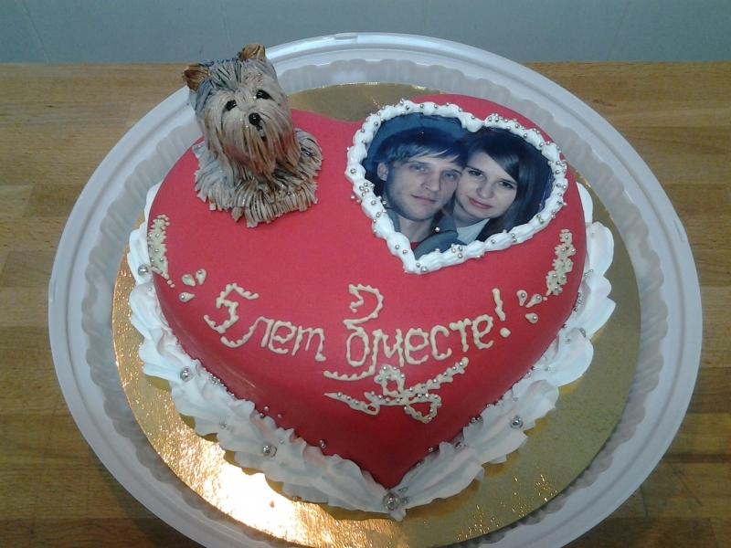 Красивый торт вместе 7 лет   фото 008