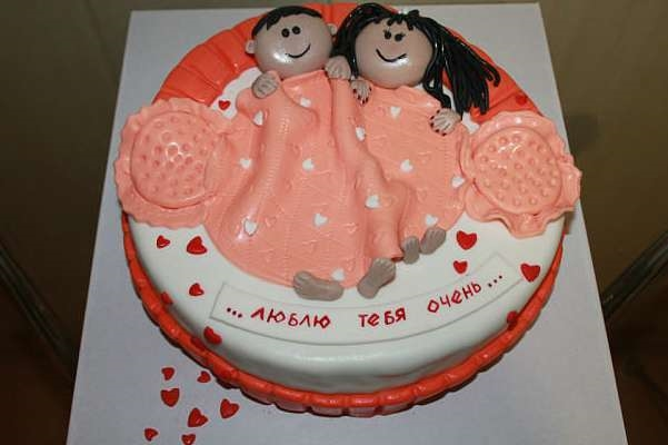 Красивый торт вместе 7 лет   фото 016