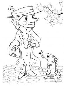 Крокодил Гена и Чебурашка картинки для раскрашивания019