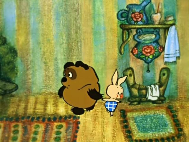 Винипух пятачок и кролик картинки