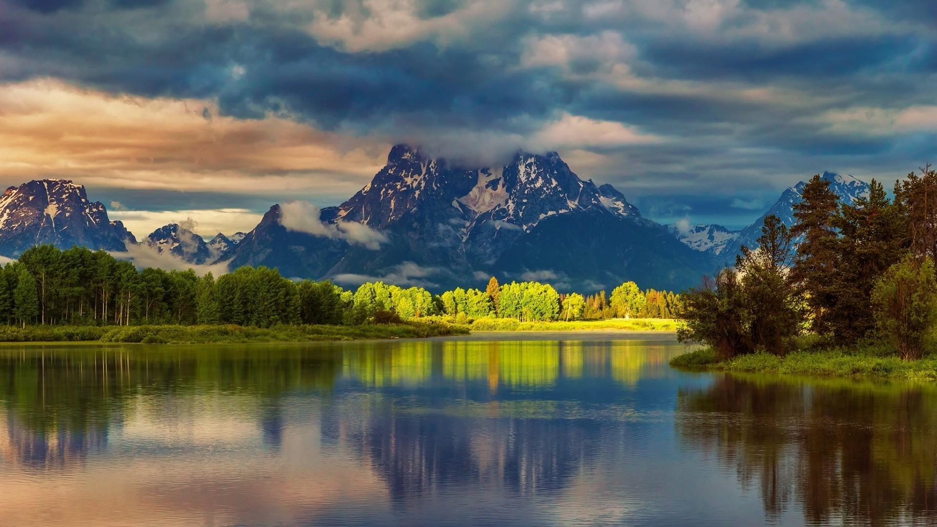 Лес горы и река картинки и обои (15)