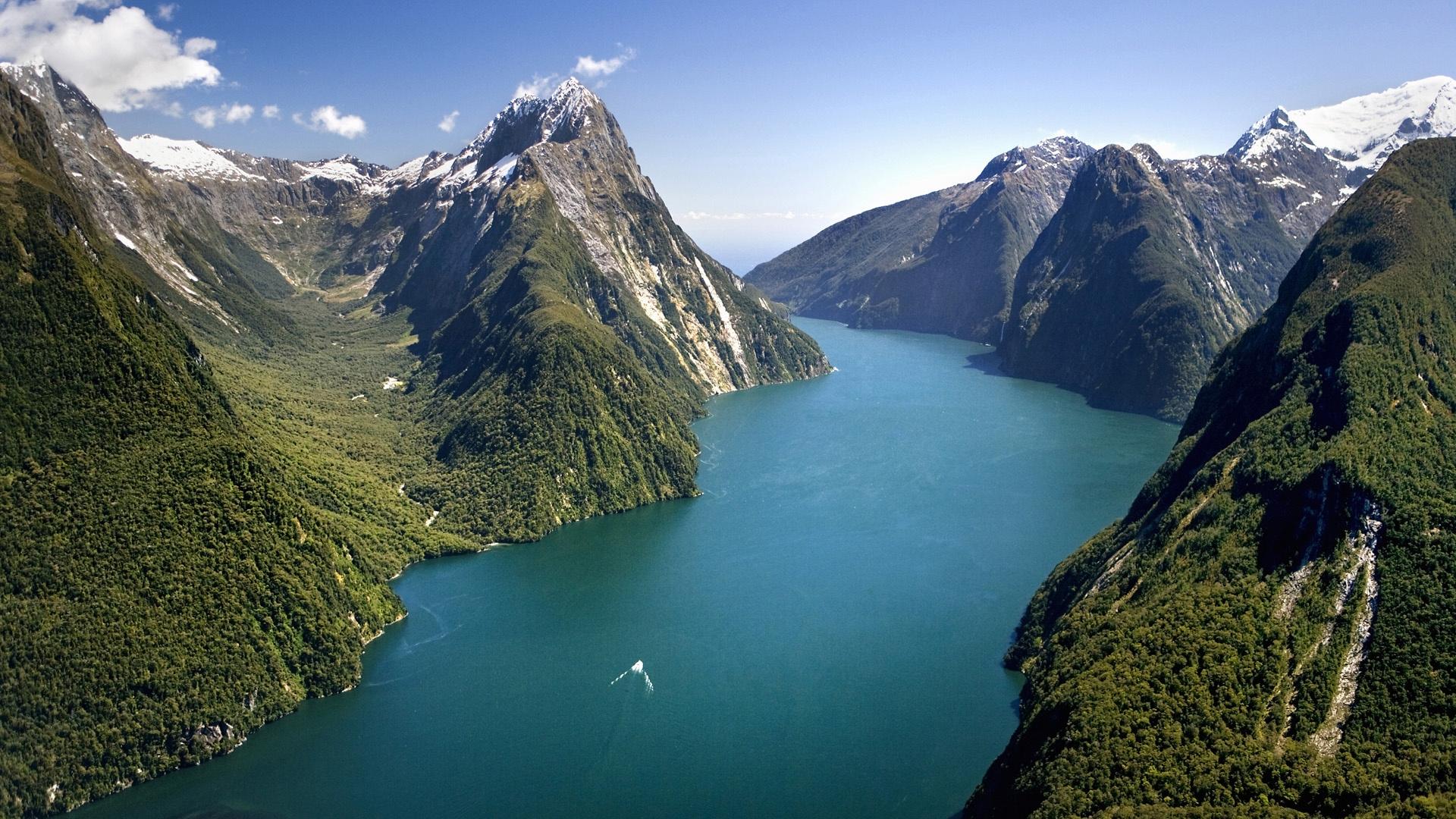 Лес горы и река картинки и обои (16)
