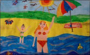 Лето на море детские рисунки023