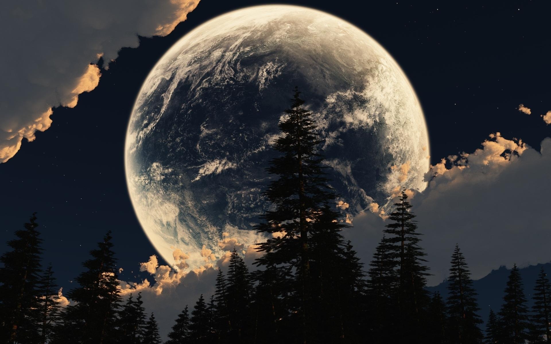 Красивые картинки природы луна