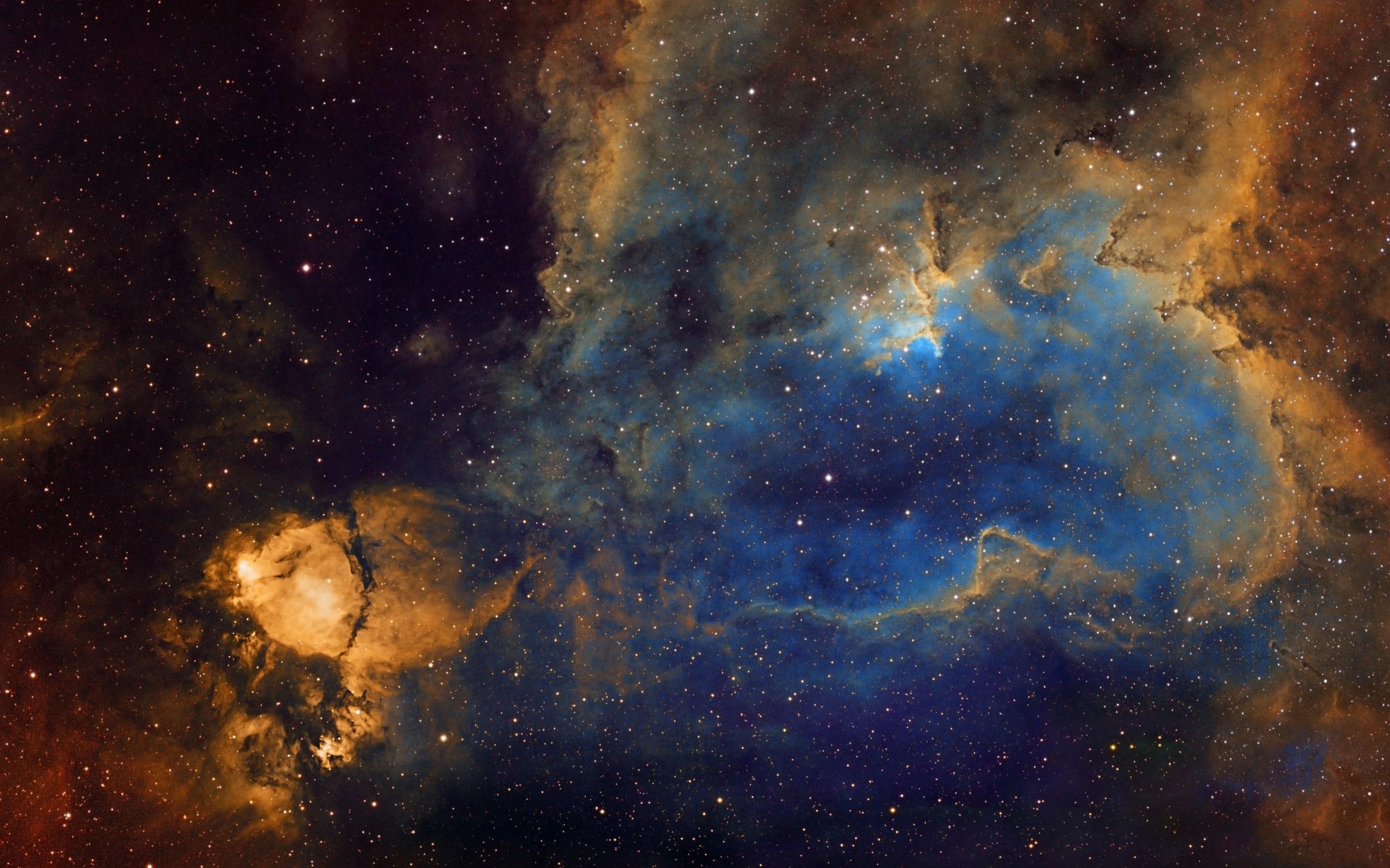 Луна на звездном небе   красивые обои (24)