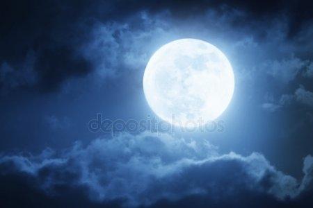 Луна на ночном небе   красивые фото001