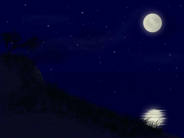Луна на ночном небе   красивые фото004
