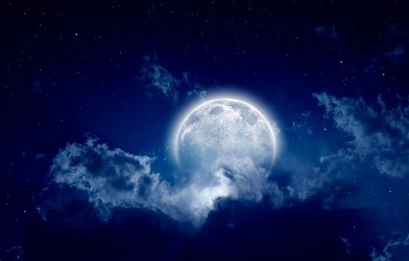 Луна на ночном небе   красивые фото007