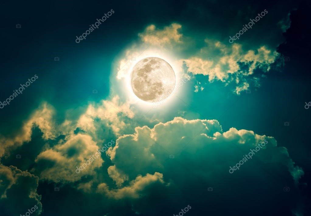 Луна на ночном небе   красивые фото010