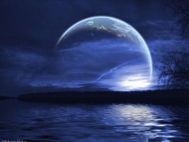 Луна на ночном небе   красивые фото011
