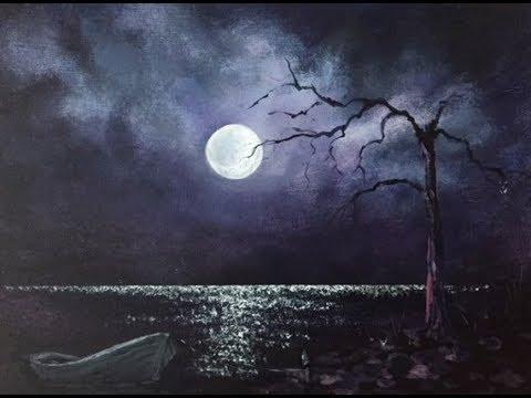 Луна на ночном небе   красивые фото015