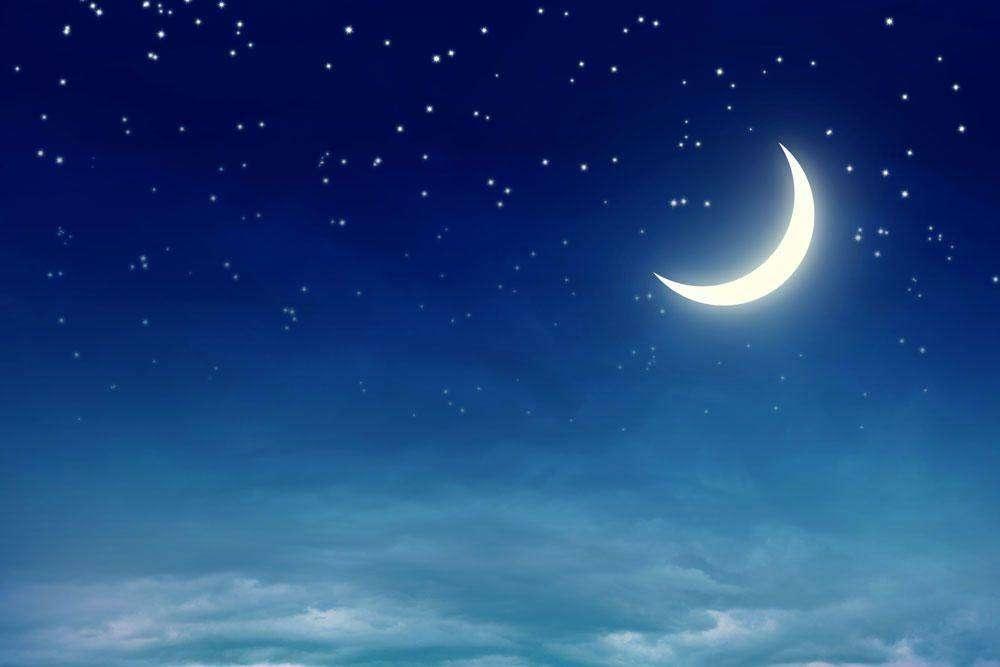 Луна на ночном небе   красивые фото019