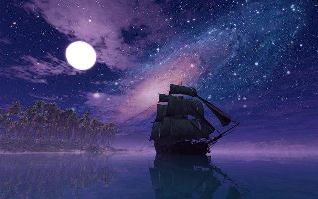 Луна на ночном небе   красивые фото021