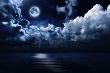 Луна на ночном небе   красивые фото022
