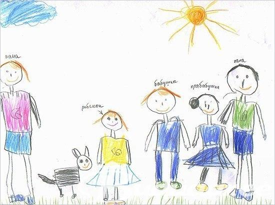 Мамы и папы рисунок для детей 001