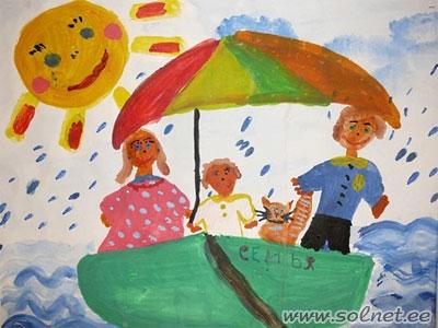 Мамы и папы рисунок для детей 002