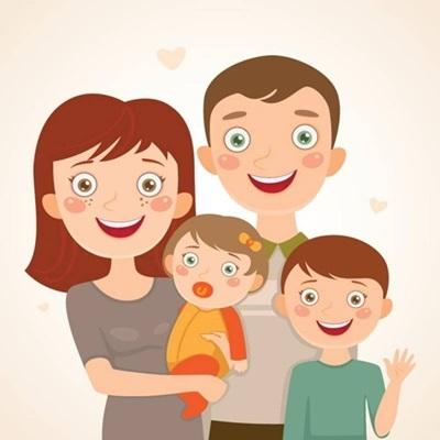 Мамы и папы рисунок для детей 005