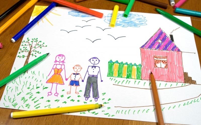 Мамы и папы рисунок для детей 007