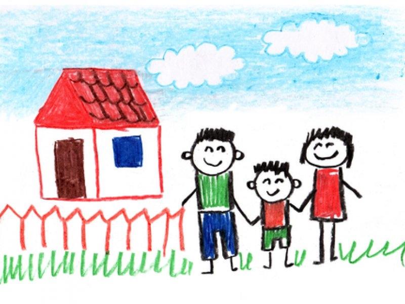 Мамы и папы рисунок для детей 009