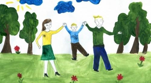 Мамы и папы рисунок для детей 010