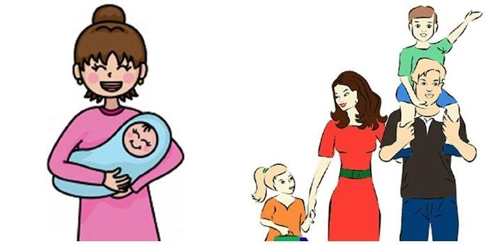 Мамы и папы рисунок для детей 011