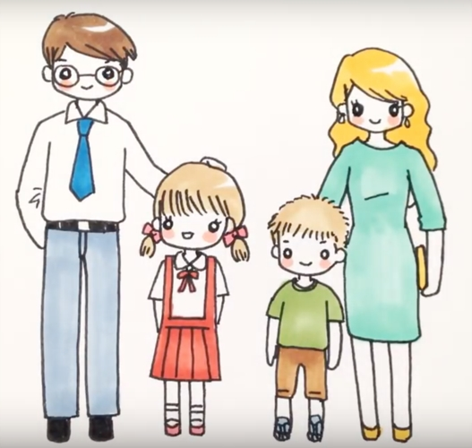 Мамы и папы рисунок для детей 012