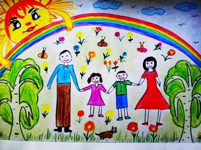 Мамы и папы рисунок для детей 013