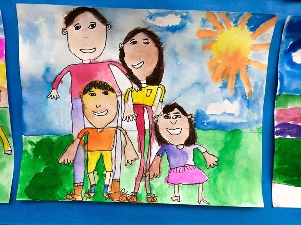 Мамы и папы рисунок для детей 017