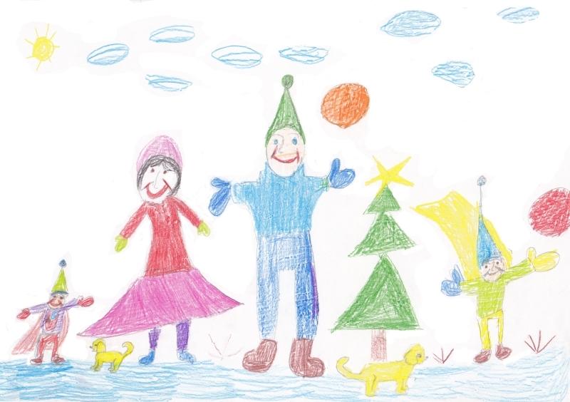 Мамы и папы рисунок для детей 019