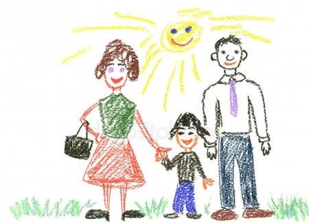 Мамы и папы рисунок для детей 021