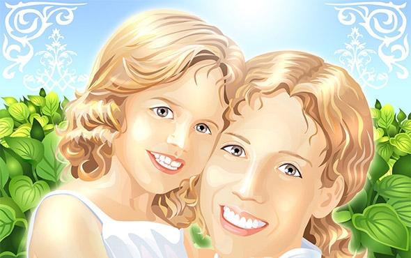 Мамы и папы рисунок для детей 022