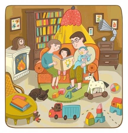 Мамы и папы рисунок для детей 023