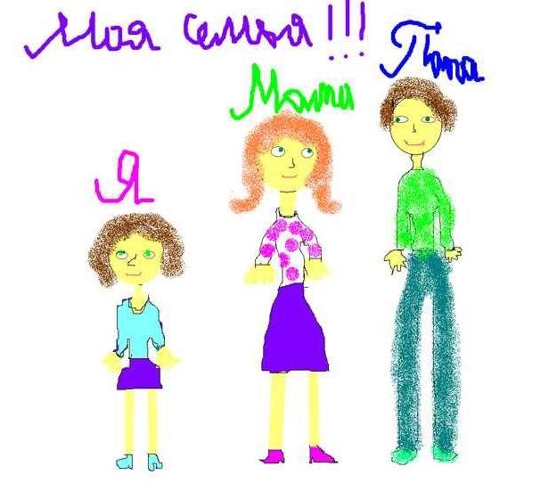 Мамы и папы рисунок для детей 024