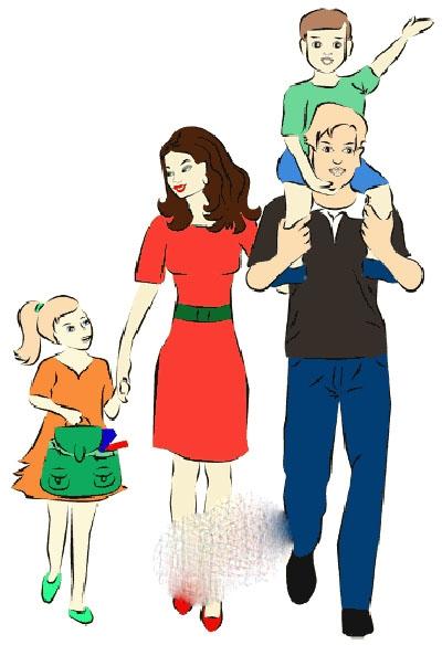 Мамы и папы рисунок для детей 025