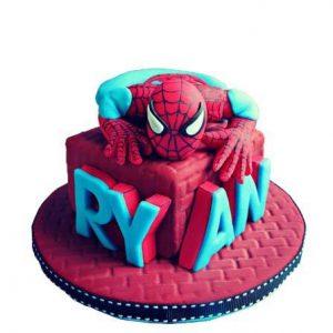 Мастичный торт Человек Паук   фото025