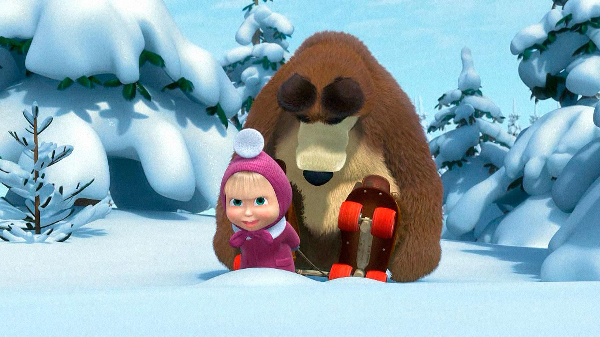 верно заметили, картинка с маши и медведь зимой спит текстуры или