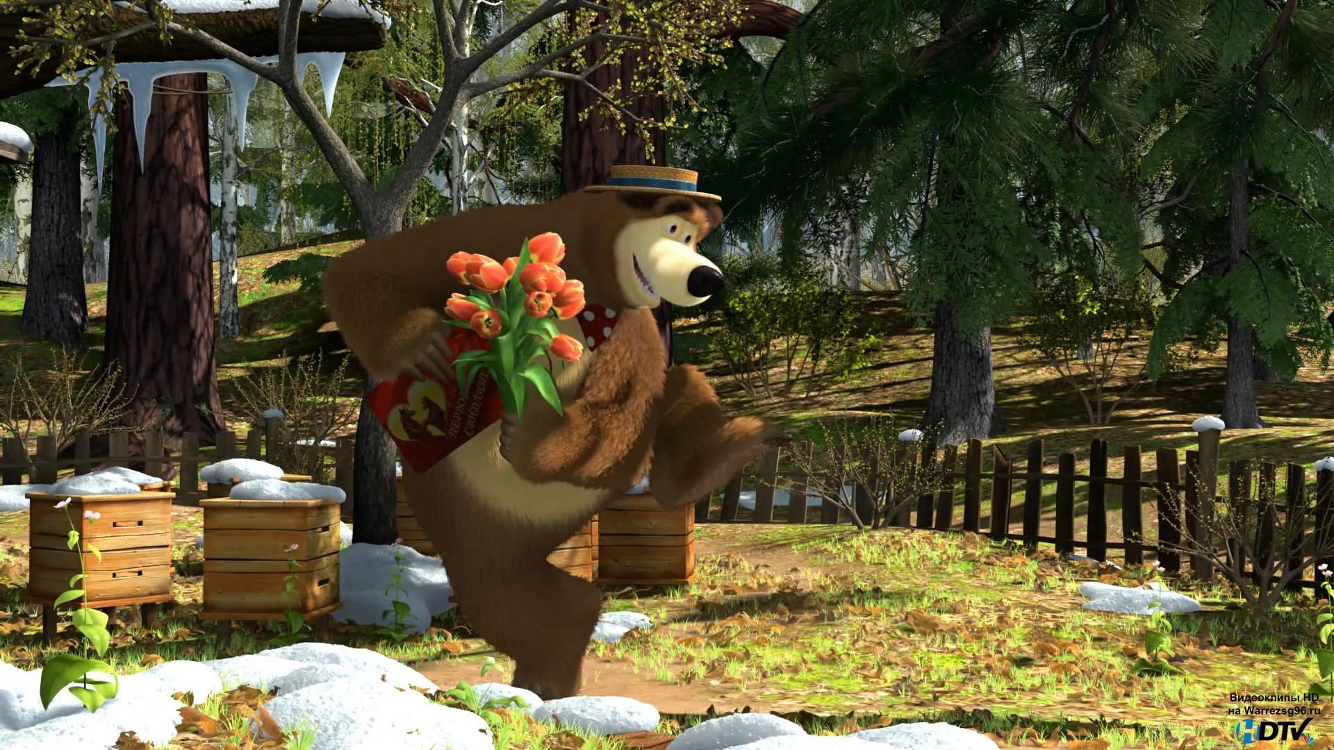 определились маша и медведь картинки на стол создании