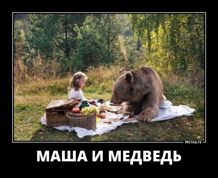 Маша и медведь демотиваторы   подборка 022