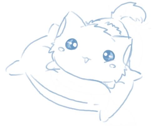Милые картинки для срисовки котята 007