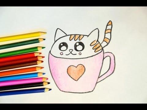 Милые картинки для срисовки котята 017