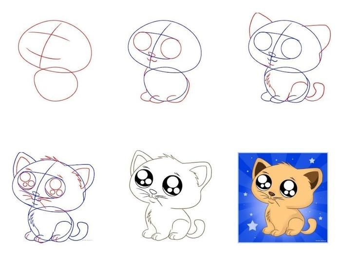 Милые картинки для срисовки котята 018