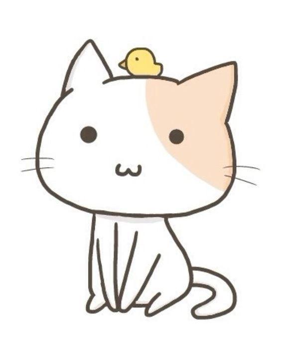 Милые картинки котики для срисовки (11)